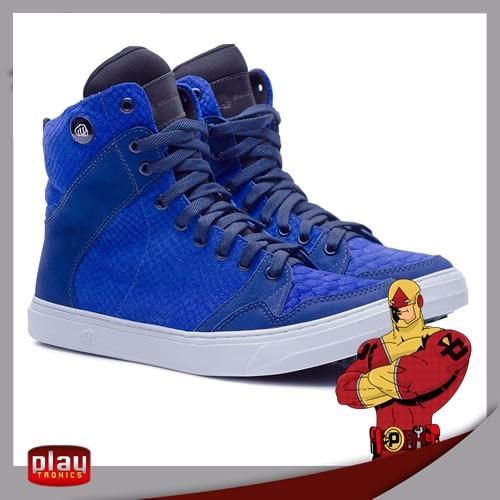 Tênis Bota Hardcore Sneakers Slim Croco Azul 3734