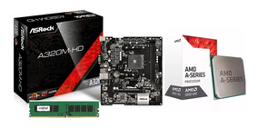 Kit Gamer Asrock A320m-hd Am4 + A10 9700 Apu + 8gb (2x4gb)