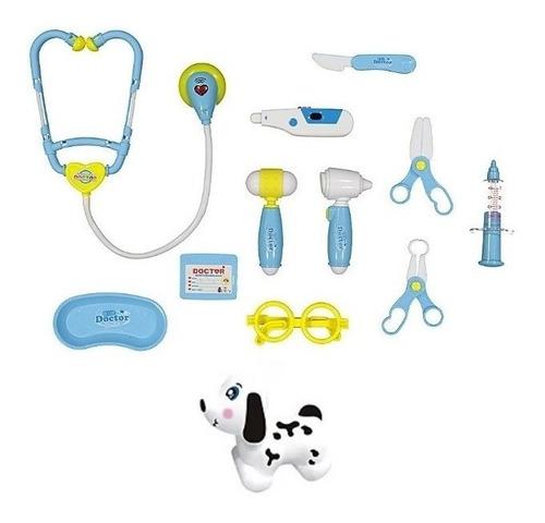 Imagem 1 de 4 de Kit Veterinário Médico Infantil Com Luz E Som 12 Peças Fenix