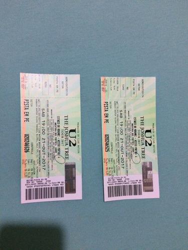 Ingressos U2 Meia Entrada 21/10/2017 São Paulo 2 Ingressos