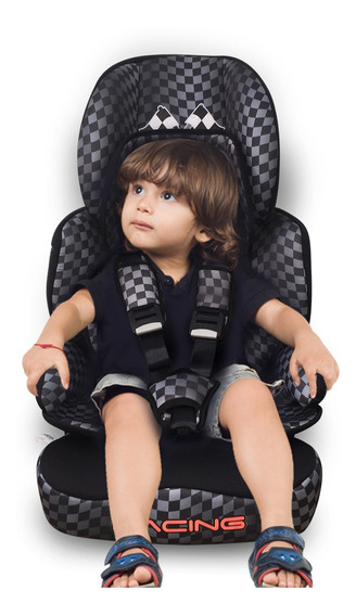 Cadeirinha Carro Racing Black Maxi Baby 9 A 36 Kg - Inmetro