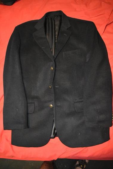 Saco Blazer De Paño Negro Polo Club Rcb Invierno