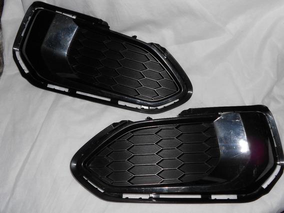 Acabamento Grade Parachoque Honda Fit Original Par 17/18