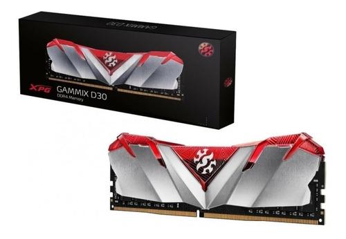 Imagem 1 de 2 de Memória Adata Xpg Gammix D30 Red 16gb 3000mhz Ddr4 Cl19