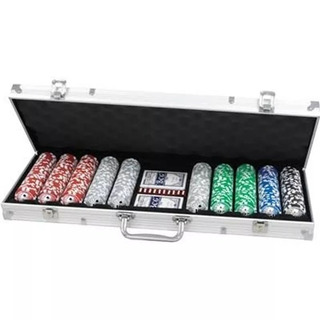 Fichero Poker 500 Fichas Numeradas Maletin 11.5 G 6 Cuotas