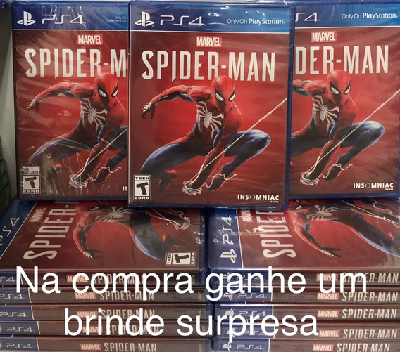 Jogo Marvel Spider Man Ps4 Mídia Física E Brinde