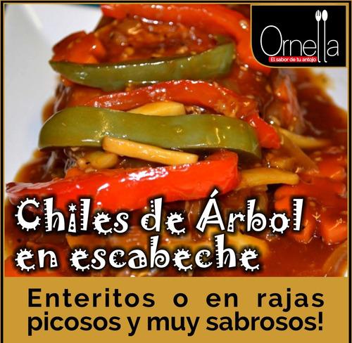 Chiles De Arbol En Escabeche  Como En México  200 Gr