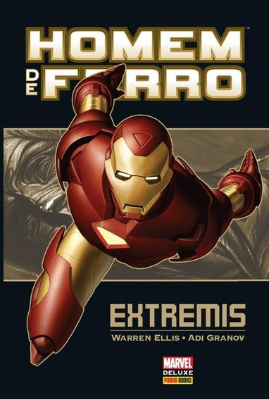 Hq Marvel Deluxe - Homem De Ferro: Extremis-panini (lacrado)