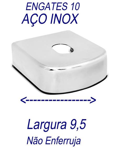 Capa Para Engate Reboque Aço Inox 9,5 Cm De Largura