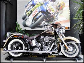 Harley Davidson Softail Deluxe Flstn 2014 Bege