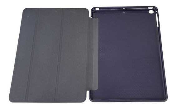 Capa Smart Case Couro Borracha iPad New 2017 2018 Slim A1822 Novo