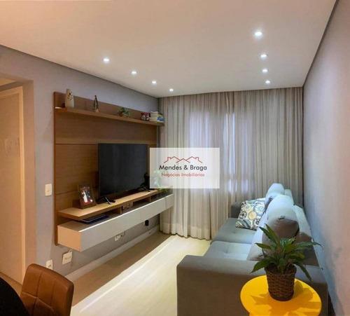 Imagem 1 de 14 de Apartamento À Venda, 50 M² Por R$ 250.000,00 - Centro - Guarulhos/sp - Ap2773