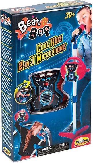 Micrófono De Beat Bop Kidz Cool 2 En 1