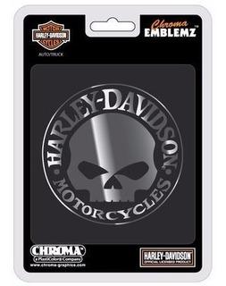 Emblema Harley Davidson Skull Autoadherible Envio Gratis