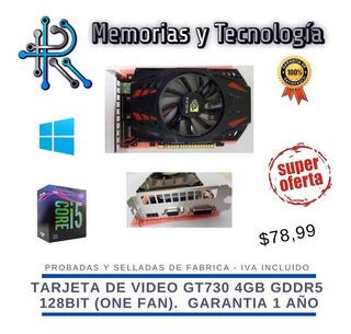 Tarjeta De Video Gt730 4gb Dddr5 128 Bit Nuevas