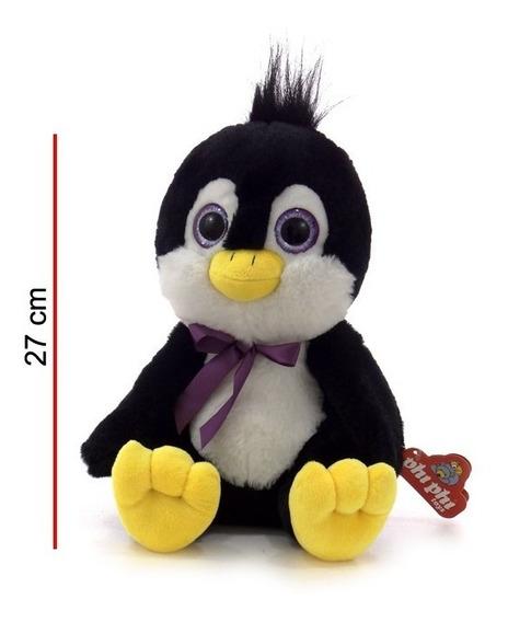 Pinguino De Peluche 27 Cm Ojos Brillosos Ploppy 370189