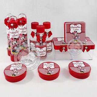 Kit Infantil Personalizado Minnie Vermelha