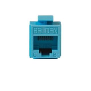 Conector Jack Belden Ax101326 Rj45 Cat6 T568a/b Azul