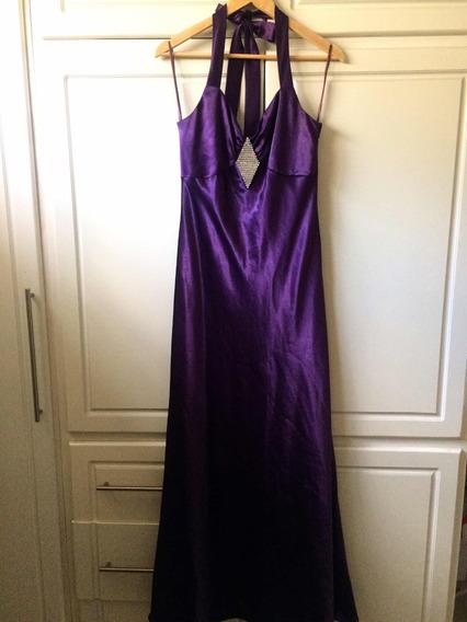 Vestido Dama De Fiesta Púrpura Talla L