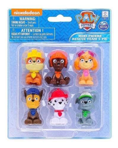 Paw Patrol 6 Mini Figuras Muñecos @ Mca