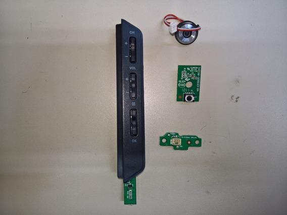 Placa Tecl., Sensor Remoto, Chave E Botão Power Ph32m Led A4