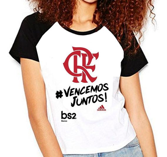 Camiseta Flamengo Vencemos Juntos - Campeão Da Libertadores