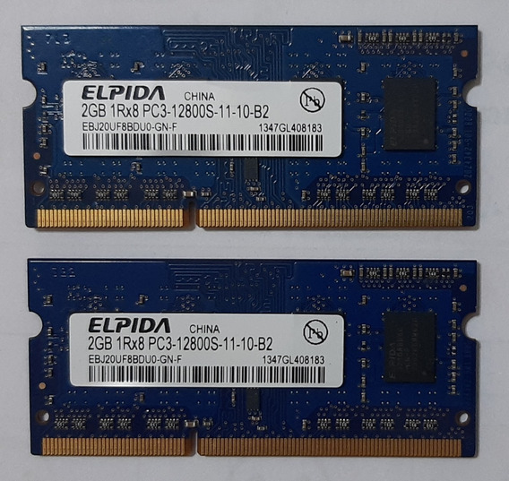 Memória Elpida Pc3 1600mhz 4gb (2x2gb) Macbook Macmini iMac