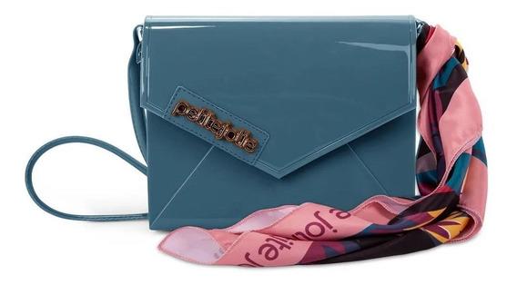 Bolsa Hello Petite Jolie Azul Pj3954 Original C/nota