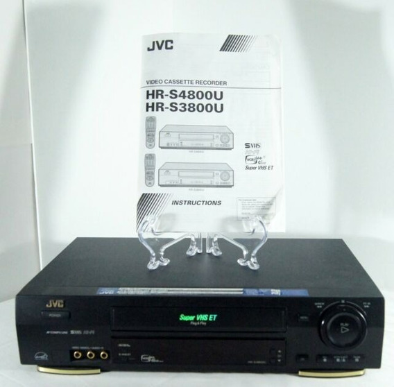 Video Cassete Jvc Hr S3800u Raridade Lindo C/manual Novissim