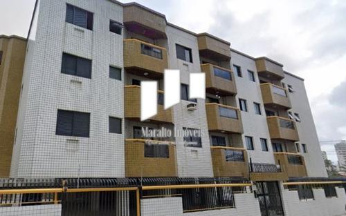 Imagem 1 de 15 de Apartamento Com Sacada E 2 Vagas De Garagem Em Praia Grande Sp.