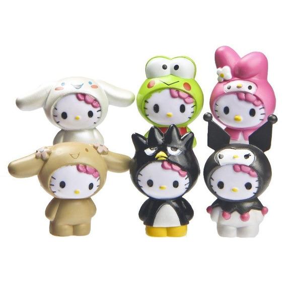 Lote Hello Kitty Pvc Fantasias 6 Unidades