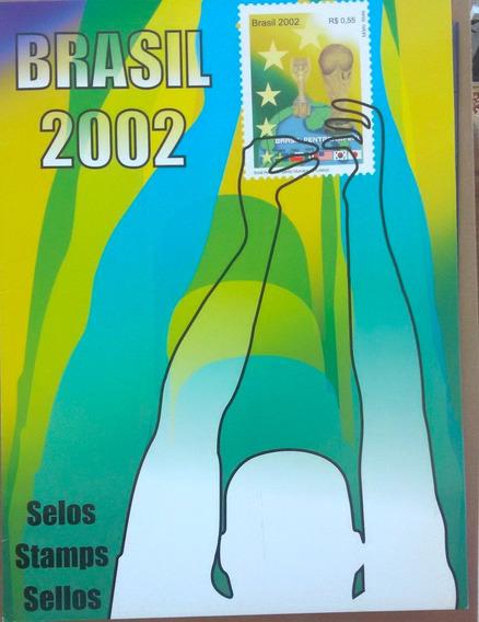 V-8613 Album De Selos Do Brasil 2002 - Sem Selos