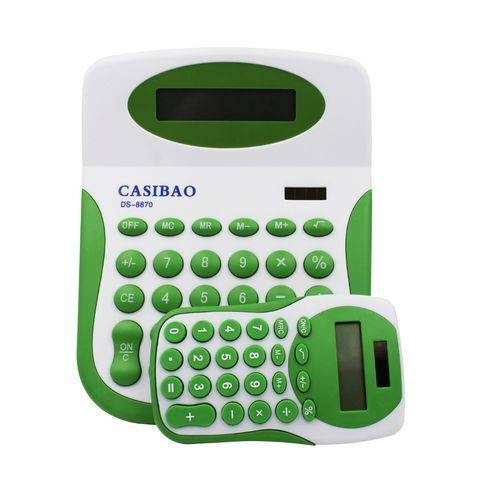 Kit Com 2 Calculadoras De Mesa Solar Coloridas