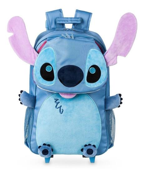 Stitch Mochila Con Ruedas Nueva Importada Disney Store