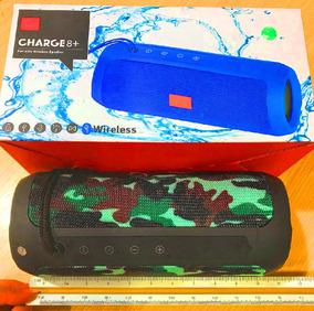 Bocina 8+ Bluetooth Wireless Rojo Negro Azul 19-01-1145
