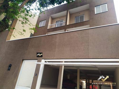 Cobertura Com 2 Dormitórios, 100 M² - Venda Por R$ 300.000,00 Ou Aluguel Por R$ 1.650,00/mês - Vila Leopoldina - Santo André/sp - Co0736