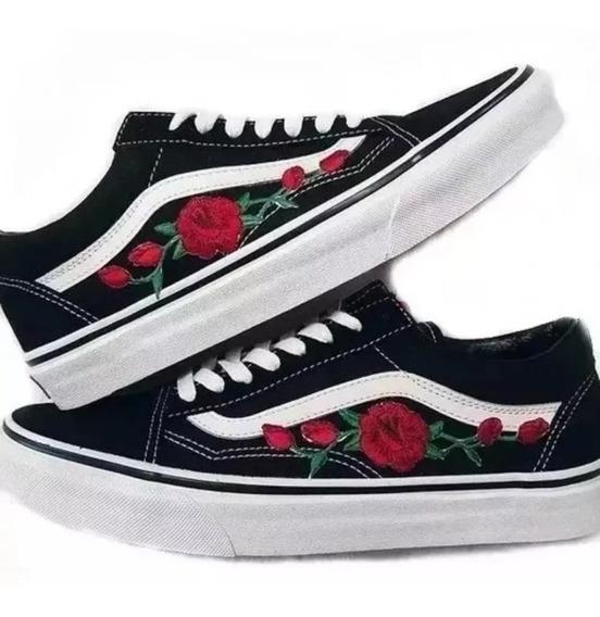 Mega Promoção Tênis Vans Old Skool Floral Feminino Moderno