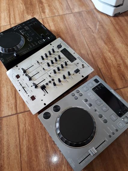 Par Cdj 350, Mixer Behringer Dx626