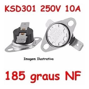 Termostato Ksd301 185 Graus 250v - Normal Fechado - Nf Nc