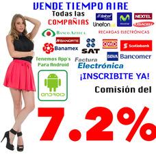 Recargas Telefónicas Electrónicas 7.2% Comisión Multimarca