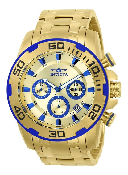 Relógio Invicta Pro Diver 22320 Masculino Banhado A Ouro