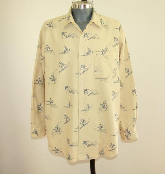 Polo By Ralph Lauren Camisa Estampado Skiadores Talla Xl