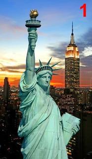 Vinil Mural New York Estatua Libertad Sala Recamara 250x140