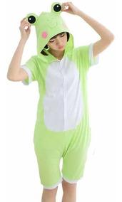 Pijama Verão Macacão Sapo Cosplay Kigurumi Fantasia Infantil