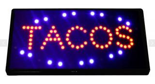 Anuncio Luminoso Led Letrero Tacos Radox