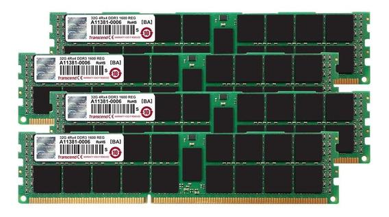 Memoria Ram 128gb Transcend (32gb X 4 Kit) Jet Ddr3- 1600 Ecc Registered Dimm 4rx4 Para Mac Pro Late 2013 (ts128gjma534p