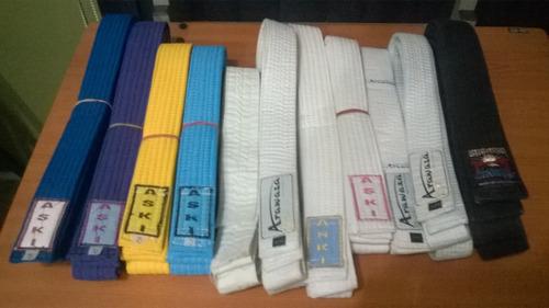 Cintas Karate: Marrón, Azul, Amarilla, Celeste Y Blanca