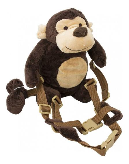 Mochila Guia Coleira De Segurança Infantil Macaco