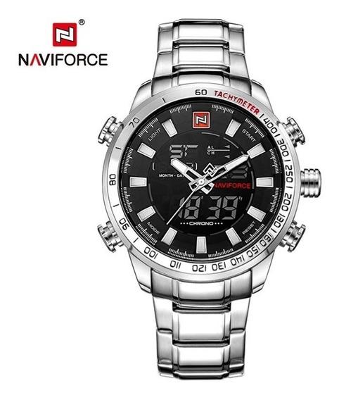 Relógio Masculino Naviforce Analógico E Digital, Cronômetro.