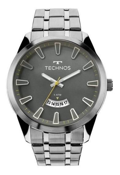 Relógio Technos Masculino Prata Classic Steel 2115mkt/1p